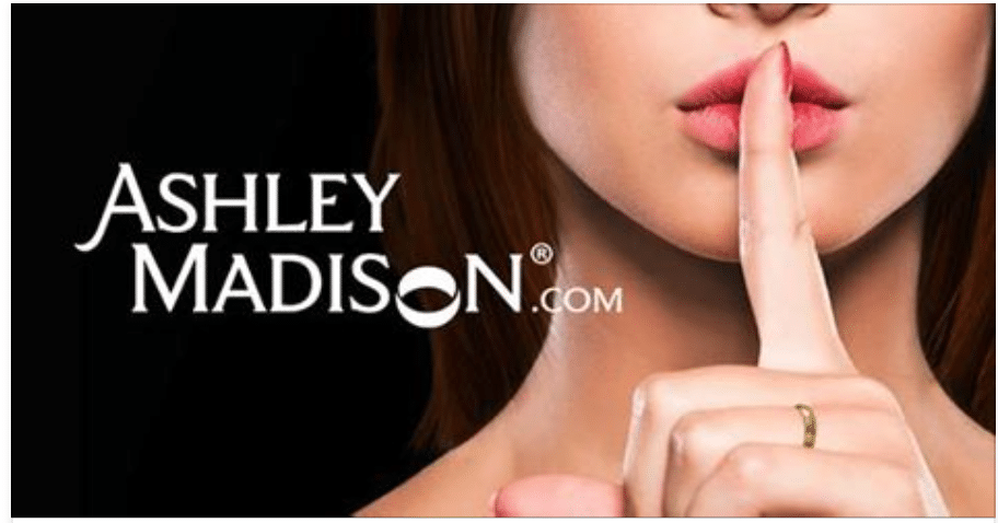 photo from ashleymadion.com website of women putting finger to her lips