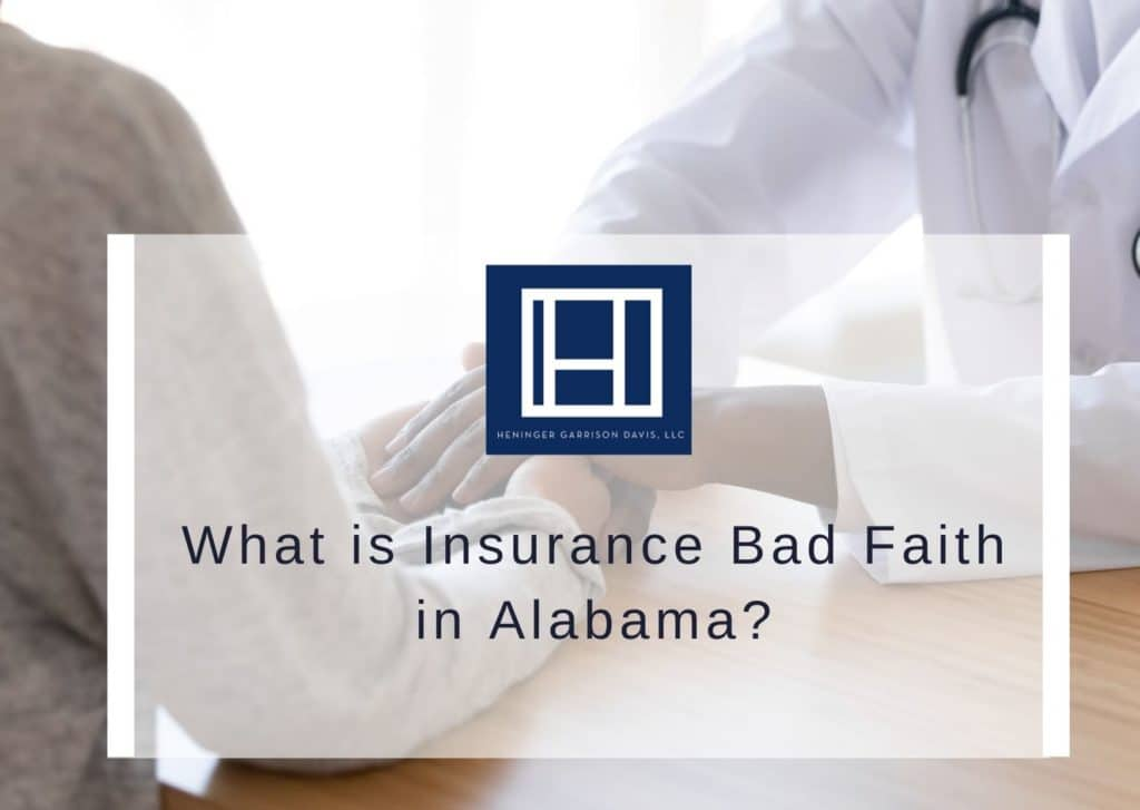 graphic image that says what is bad faith insurance