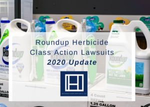 promo that reads Roundup Herbicide Class Action Lawsuits - 2020 Update