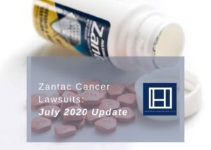 promo image that says zantac cancer lawsuits july 2020 update